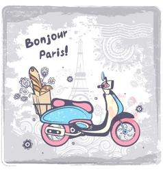 Vintage Paris postcard vector image