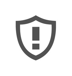 Warning shield icon on a white background vector