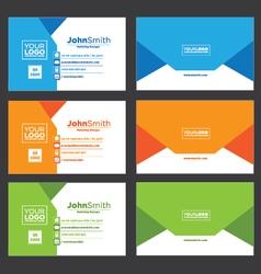 Creative envelope business card vector