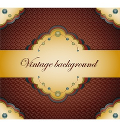 Vintage brown background vector image