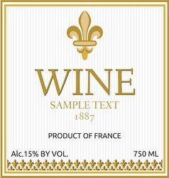 Wine label design vector