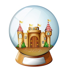 A palace inside the crystal ball vector