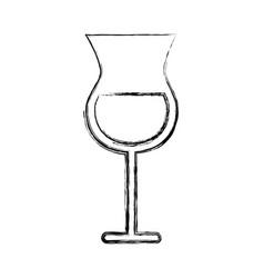 Sketch draw alcohol cup cartoon vector