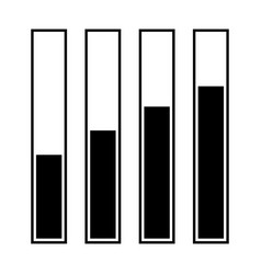 Diagram growth black color icon vector