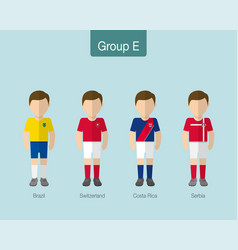 2018 soccer or football team uniform group e vector
