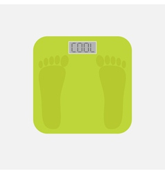 Electronic weight scale with word cool flat vector