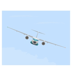 Airplane in flight vector