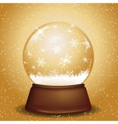 Golden snow globe vector