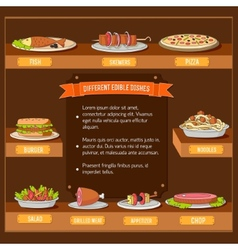 Various dishes background concept design vector