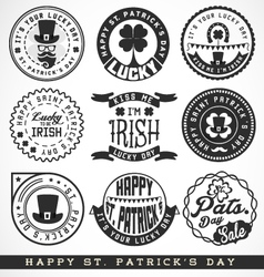 Saint patrick typographical design elements vector