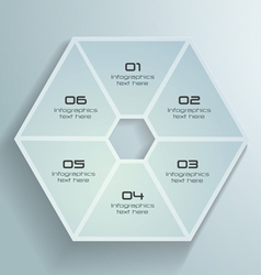 White paper hexagon infographics design vector