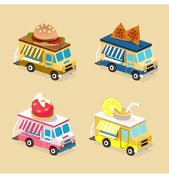 Food truck designs collection of icons vector