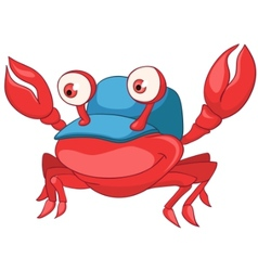 Cartoon character crab vector