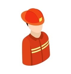 Fireman isometric 3d character icon vector