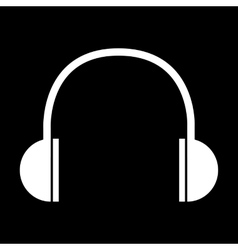 White headphones icon vector