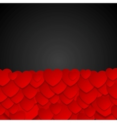 Valentine Day dark graphic design with hearts vector image