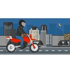 Man riding motorcycle vector