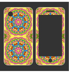 Phone case design hand drawn mobile phone decals vector