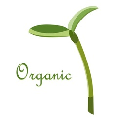 Label organic sprout symbol vector