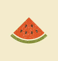 a slice of watermelon stylized icon vector image vector image