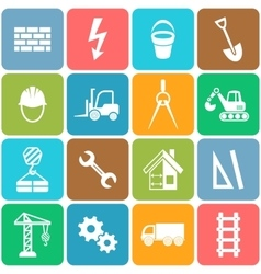 Abstract construction icons vector