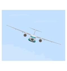Airplane in flight vector image