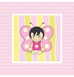 baby butterfly costume vector image vector image