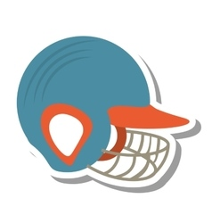 Baseball helmet equipment uniform icon vector