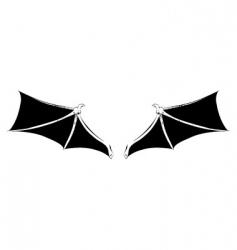 bat wings vector image vector image