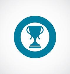 cup icon bold blue circle border vector image