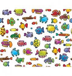cute fish vector image vector image