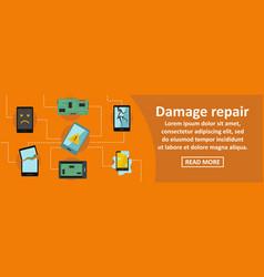 Damage repair gadget banner horizontal concept vector