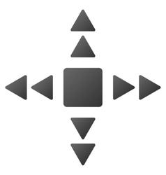 Direction triangles gradient icon vector