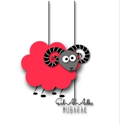 Eid-Al-Adha greeting card with sheep vector image vector image