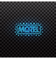Glowing neon light signs illuminated isolated on vector image