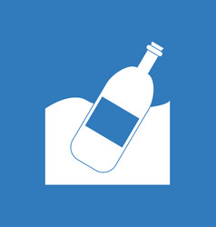 Icon bottle in the ground vector