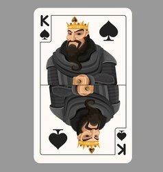 King of spades playing card vector image vector image