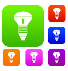 led bulb set collection vector image vector image