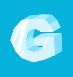 Letter g ice font icicles alphabet freeze vector