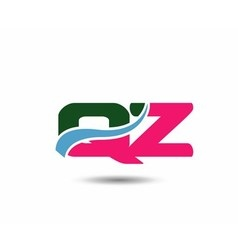 Letter q and z logo vector