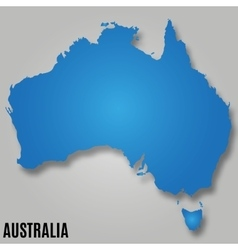 Map of australia continent country vector