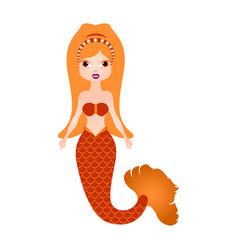 mermaid cartoon character fantasy creature vector image