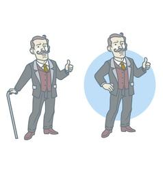 Old aristocrat vector