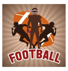 Player of american football design vector image