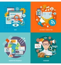 Seo Internet Marketing Flat vector image