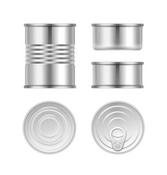 set of canned goods vector image vector image