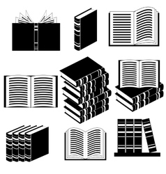 Set of Different Book Icons vector image vector image