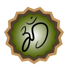 Sign hindu om icon in tamil vector