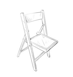 sketch of chair vector image vector image