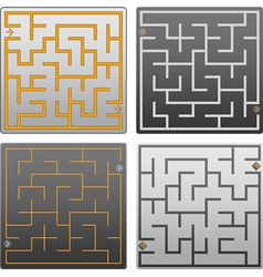 small gray labyrinth vector image vector image